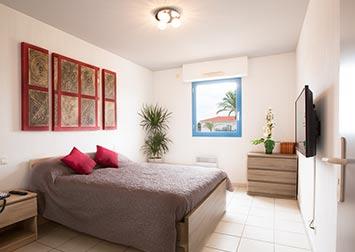 Une chambre de la résidence Claricia.